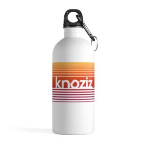 Stainless Steel Water Bottle   Amazing Quality Print   Knoziz Recordings