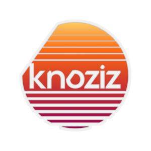 Kiss-Cut Stickers | White or Transparent | Knoziz Recordings